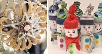 13 modi creativi per trasformare i rotoli di carta igienica esauriti in splendide decorazioni natalizie