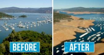 Queste strazianti immagini mettono a confronto il nostro Pianeta prima e dopo i cambiamenti climatici