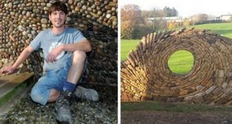 Il était maçon et maintenant c'est un artiste : cet homme fait de merveilleuses sculptures avec de simples pierres