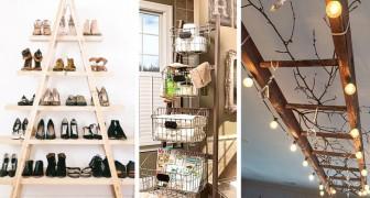 28 fantastiche idee per riutilizzare le vecchie scale e dare un tocco di originalità ai vostri ambienti
