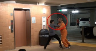 The best victims of this prank is the man who used his girlfriend as a shield ! Not Cool !