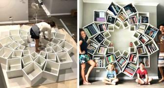 Deze ouders creëerden een unieke en originele boekenkast voor hun kinderen