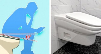Een bedrijf heeft een schuin toilet gecreëerd waardoor werknemers niet langer dan 5 minuten op het toilet kunnen blijven zitten