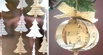 Decorare con la carta a Natale: 15 idee per creare piccole meraviglie con cui abbellire la casa