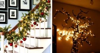 Natale: 15 idee fai-da-te per riempire la casa di luci e decorare in modo originale e sorprendente