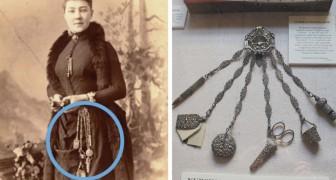 Die Chatelaine: das Objekt, das die Frauen des Hauses im 19. Jahrhundert um die Taille hängend zu tragen pflegten