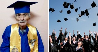 En 90-årig man tar studenten och förverkligar sitt livs stora dröm