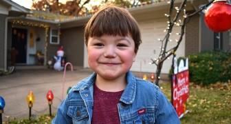 Deze 4-jarige jongen, geboren met een half hart, schonk zijn kerstcadeaus aan behoeftige kinderen
