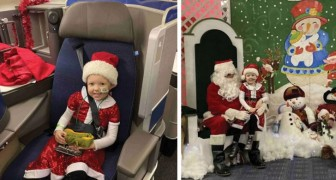 Questa compagnia aerea americana porta i bambini malati terminali al Polo Nord per le vacanze di Natale