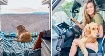 Hon lämnar sin pojkvän och tre arbeten och bestämmer sig för att resa landet runt tillsammans med sin älskade hund