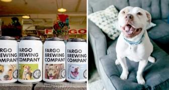 Quest'azienda di birra ha messo le foto di alcuni cani sulle proprie lattine per aiutarli a trovare una nuova casa