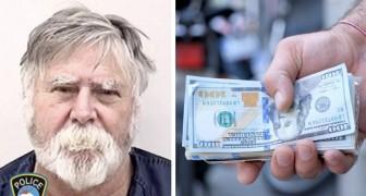 Cet homme a dévalisé une banque et a ensuite décidé de distribuer l'argent volé aux passants