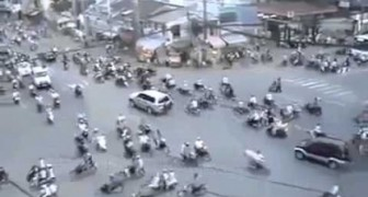 Rush hour in Ho Chi Minh