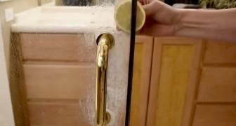 Il metodo naturale fai-da-te per pulire la doccia usando un solo limone