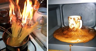15 foto di disastri in cucina che farebbero inorridire ogni chef