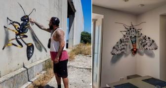 Cet artiste de rue a réalisé une série de fresques murales avec un surprenant effet tridimensionnel