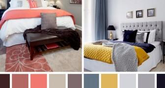 10 combinazioni di colori per tutti i gusti che possono ravvivare la tua camera da letto
