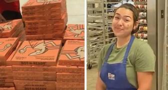 Cette fille a organisé une soirée pizza avec des sans-abri plutôt qu'une fête de fin d'études