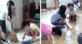 In Japan, students clean their classrooms and school toilets; this is how they learn responsibility from an early age