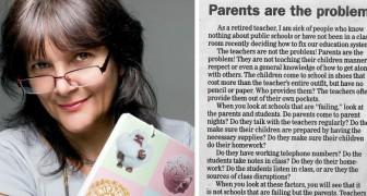 Die Eltern sind das Problem: Die harten Worte dieser pensionierten Lehrerin lassen einen über die heutige Erziehung nachdenken...