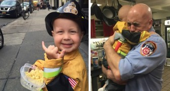 Poco prima della sua scomparsa, questo bambino malato ha realizzato il suo sogno: diventare amico dei pompieri