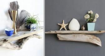 Mensole fai-da-te realizzate con rami e tronchi: 11 idee una più bella dell'altra