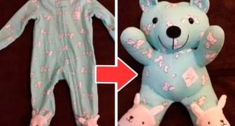 Il metodo per trasformare un pigiamino in un adorabile orsetto: l'idea perfetta per custodire i ricordi