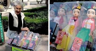 Questa nonnina realizza e vende delle bellissime bambole di Frida Kalho: piccoli gioielli di artigianato creativo