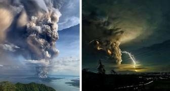 L'eruzione del vulcano Taal nelle Filippine: queste immagini impressionanti mostrano tutta la sua potenza devastante