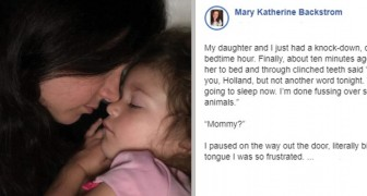 Never go to bed with anger in your heart, says a three-year-old girl as she gives her mom a lesson in forgiveness