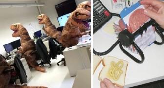 Deze 17 foto's laten zien dat je je met de juiste collega's ook op het werk nooit verveelt