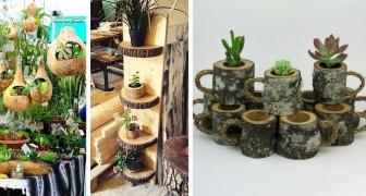 17 soluzioni creative per creare vasi e fioriere fai-da-te e dare un tocco di verde alla nostra casa