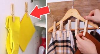 10 modi ingegnosi e creativi per usare le mollette di legno nella vita quotidiana spendendo poco o nulla