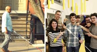 Een blinde ingenieur vond een stok uit met Google Maps waarmee blinden door de stad kunnen lopen