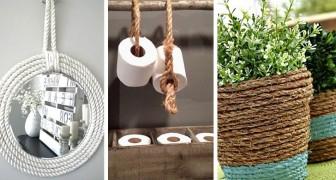 17 modi creativi per decorare con corda e spago e rinnovare il look di tanti oggetti