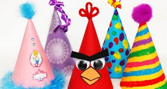 14 idee una più bella dell'altra per creare cappellini da festa per i bambini