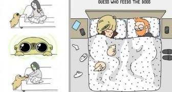 Diese niedlichen Cartoons veranschaulichen perfekt, was es bedeutet, mit einem Hund zu leben