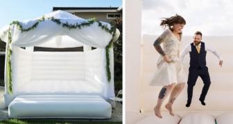 Ein Unternehmen ermöglicht Ihnen die Miete einer Hüpfburg für Ihren Hochzeitstag