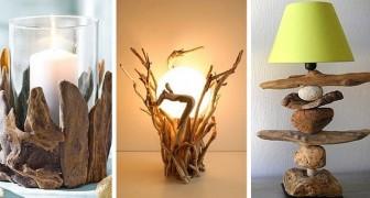 16 splendidi progetti creativi tutti da provare per arredare con il legno di mare