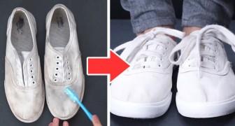 Il metodo facile e veloce per sbiancare le scarpe e farle tornare come nuove