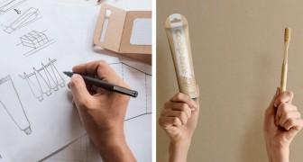 Questo designer ha creato un tubetto di dentifricio biodegradabile senza l'uso di carta e plastica