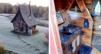 In den USA gibt es einige sehr kleine Holzhäuser, die einem gotischen Märchen entsprungen zu sein scheinen