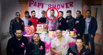 Un Baby shower al maschile: questo ragazzo festeggia con gli amici la nascita imminente di sua figlia