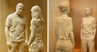 Cet artiste italien réalise des sculptures en bois qui semblent plus réelles qu'une photographie