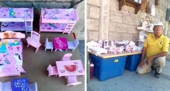 This grandpa was not able to sell his dollhouse furniture and a young woman helps him by posting his photos