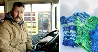 This school bus driver bought gloves and hats for all of his little passengers who were suffering from the cold