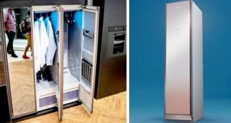 Samsung har uppfunnit en intelligent garderob som tvättar och stryker dina kläder utan att använda varken vatten eller tvättmedel
