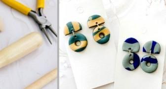 Il tutorial passo dopo passo per creare irresistibili orecchini d'argilla fai-da-te