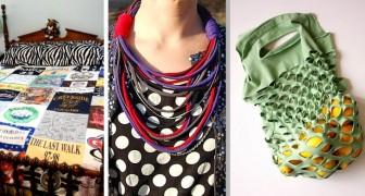 19 soluzioni creative per riciclare le vecchie t-shirt e trasformarle in nuovi oggetti sorprendenti
