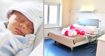 In this maternity ward, parents and their newborn babies sleep together in a double bed just like at home